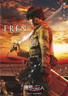 "Attack on Titan / Shingeki no Kyojin Live Action Cast: Hiruma Miura as Eren Jeager The ""HUNTER"""