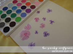 Watercolor flowers tutorial.