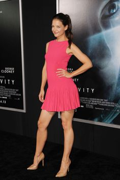 Katie Holmes wears Beautiful, Gorgeous and Stunning Pink Dress