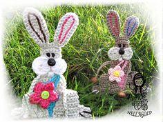 Crochet PATTERN, Applique, Patch, Application Bunny, Rabbit, DIY Pattern 156. $3.68 for pattern 5/15