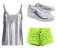 """""""Untitled #4582"""" by ania18018970 on Polyvore featuring Paco Rabanne and adidas Originals"""