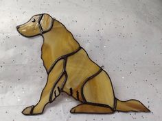 Stained Glass Golden Retriever for sale!  #hummingbirdstainedglass #hummingbirdstglass #stainedglassgoldenretriever #goldenretriever