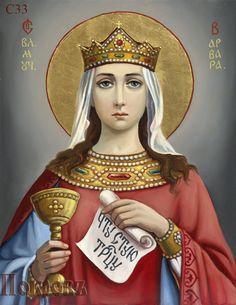 Saint Barbara, Patron Saints, Orthodox Icons, Christian Art, Pop Art, Princess Zelda, Faith, Angeles, Heaven