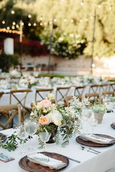 Banquet Style Reception Tables
