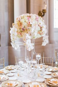 wedding reception centerpiece idea; featured photographer: Blueberry Photography