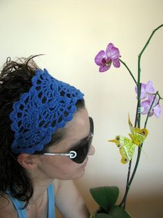 Hair Fashion Accessories  hand crochet headband in by ARTcrochet, $16.00