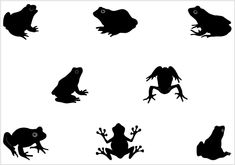 Frog silhouette vector search results