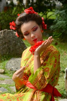 Thais Ramos no ensaio Jardim Oriental , Maquiagem  Nanda Ouriques
