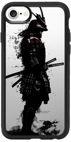 Casetify iPhone 7 Classic Grip Case - Armored Samurai - Transparent by Nicklas Gustafsson #Casetify #samurai #warrior #sword #katana #japan #japanese #spatter #dark #inkspatter #digital #illustration #iphone #case #smartphone #clear #transparent #case
