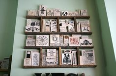 Donna Downey used ladders to organize stamps.  Great idea.
