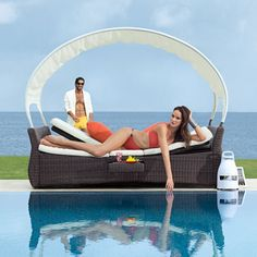 Double Lounger with Canopy
