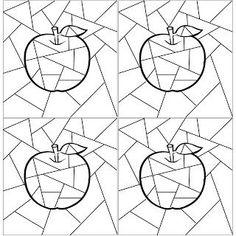 Färbe den Apfel in warmen Farben und den Hintergrund in kühlen Farben - #Apfel #den #Farbe #Farben #Hintergrund #kühlen #und #warmen