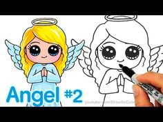 Makeup & Skin Care: How to draw lips correctly? Draw So Cute Christmas, Easy Christmas Drawings, Angel Drawing Easy, Sing Movie, Timeline Cover, Youtube Drawing, Cute Lamb, Art Drawings Beautiful, Simple Cartoon