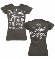Damer träkol Harry Potter jag högtidligt svära Bus lyckades T-Shirt