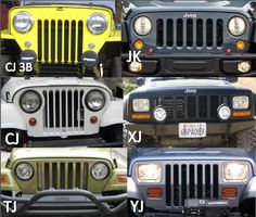 Over the years Jeep has changed its front end style by mixing classic styles with updates in technology. Comment below and let us know which Jeep grill. Jeep Jk, Jeep Wrangler Grill, Jeep Garage, Jeep Grill, Jeep Truck, Jeep Wrangler Unlimited, Wrangler Tj, Jeep Willys, Willys Wagon