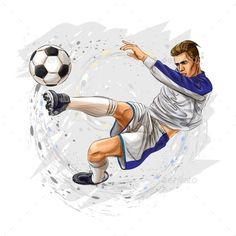 Buy Soccer Player Kicks the Ball by kapona on GraphicRiver. Soccer player kicks the ball. Girls Football Boots, Football Football, Wall Stickers Animals, Normal Wallpaper, Teacher Signs, Water Color World Map, Skateboard Girl, Wall Tattoo, Football Wallpaper