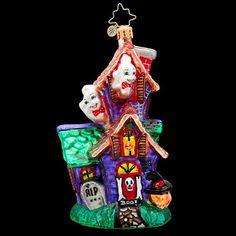 RADKO MIDNIGHT MANSION Haunted House Ghost Halloween Glass Ornament Radko http://www.amazon.com/dp/B00I78B9FM/ref=cm_sw_r_pi_dp_5019ub0ER1CRS
