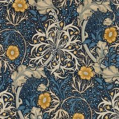 Lovely Arts And Crafts / Art Nouveau Style Printed Decorative Tile William Morris -taken from an original wallpaper design William Morris Wallpaper, William Morris Art, Morris Wallpapers, Motifs Art Nouveau, Art Nouveau Design, Textiles, William Morris Patterns, Victorian Fabric, Art Chinois