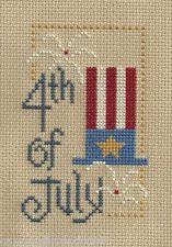 finished completed cross stitch LIZZIE KATE 4th of July flip-it PREORDER