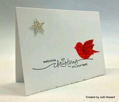Simple elegant homemade christmas cards cards to make in bulk christmas card by judi howard more red birds m4hsunfo