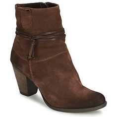 Mit diesen braunen Low Boots beweisen Sie besonders viel Stil! Sehr feminin, mit einem Schaft aus Leder und einer Synthetiksohle. Der Absatz ist einfach super. Bei der Marke Tamaris weiß man, was Damen anspricht und der Fontana ist der Beweis dafür! - Farbe : Espresso - Schuhe Damen 49,98 €