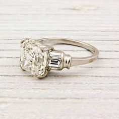 My dream ring.    309 Carat Asscher Cut Diamond Art Deco by ErstwhileJewelry on Etsy, $49000.00