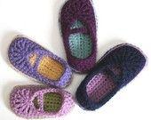 crocket patterns for kids slippers