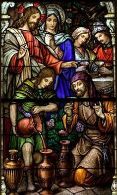 wedding feast at cana stained glass - Google Search