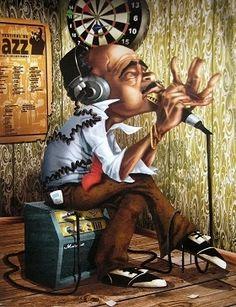 Bluesman Harmonica by Adam Perez