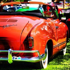 burnt orange - Karmann Ghia Cabriolet #volkswagonvintagecars
