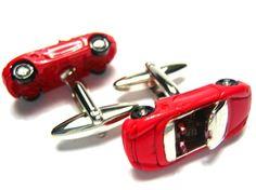 Red Porsche Sports Car 3D Diecast Cufflinks - Father's Day Gift Ideas - Best Sellers Purse Hanger, Purse Hook, Fathers Day Gifts, Gifts For Dad, Great Gifts, Porsche Sports Car, Purse Organization, Vintage Cars, Diecast