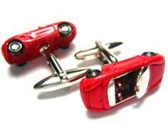 Red Porsche Sports Car 3D Diecast Cufflinks - Father's Day Gift Ideas - Best Sellers