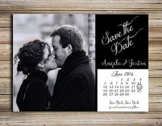 Black & White Capture your moment to share with everyone! Magnet or Double sided postcard perfect for letting everyone to know to save your date.