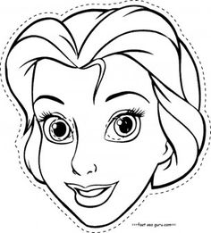 Disney Princess Face Coloring Pages Rapunzel Coloring Pages, Belle Coloring Pages, Princess Coloring Pages, Disney Coloring Pages, Coloring Pages For Kids, Free Coloring, Superhero Coloring Pages, Halloween Coloring Pages, Pintar Disney
