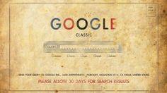 Arte vintage do mais famoso buscador Google.