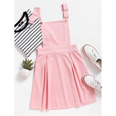 9cd4f502e6 Pleated Zip Up Back Pinafore Dress