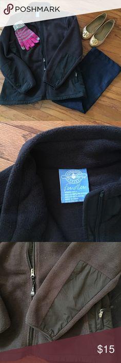 Large Fleece Jacket Charles River black fleece jacket, size large. Never worn! Charles River Jackets & Coats