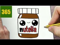 un pot nutella que j ai realise en 5 minute et qui est iper cute Cute Kawaii Drawings, Cartoon Drawings, Easy Drawings, Youtube Kawaii, 365 Kawaii, Step By Step Drawing, Cute Faces, Drawing For Kids, Learn To Draw