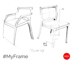 #MyFrame by Pio&Tito Toso, brothers and designers, both born and graduated in architecture in #Venice. Functionality, resistance and comfort make MyFrame a chair solid but also harmonious.