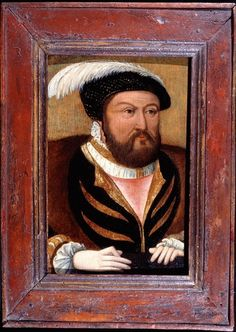Portrait of King Henry VIII (1491-1547) circa 1535.  It was most probably painted whilst the King was still married to Anne Boleyn,  and is, therefore, an intriguing glimpse of the man, who had at first courted her in the early years of the decade and married her officially in 1533, before becoming disenchanted by her failure to produce a living son.
