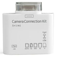 Camera Connection Kit with Card Reader for iPad, iPhone and iPod Touch – USD $ 6.99