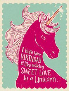 Unicornstyle birthday card- I want this birthday card!!!