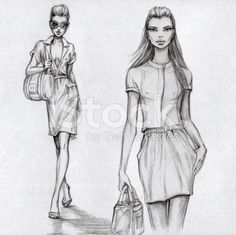 Les mannequins (noir et blanc illustrations libres de droits