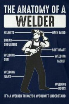 the anatomy of a welder!