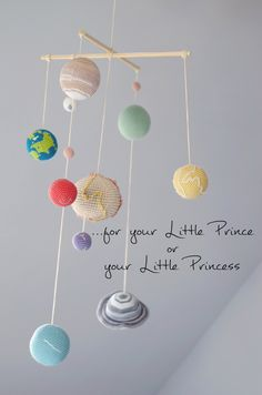 Pastel Solar System Planets Mobile - Pastel Baby Mobile - Educational Kids room decoration. Made to order by YarnBallStories on Etsy https://www.etsy.com/listing/230431932/pastel-solar-system-planets-mobile
