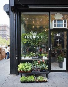 Store That's Changing How City-Dwellers Buy Plants Manhattan plant shop The Sill takes the guesswork out of indoor gardening.Manhattan plant shop The Sill takes the guesswork out of indoor gardening. Design Shop, Flower Shop Design, Shop Front Design, Shop Interior Design, Cafe Design, Store Design, Design Interiors, Florist Shop Interior, Flower Shop Decor