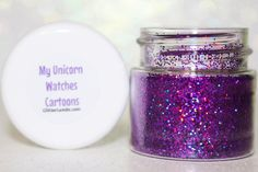 5 Glitter Projects You Can Take on this Weekend Loose Glitter Eyeshadow, Glitter Fade Nails, Glitter Roots, Glitter Gel Polish, Glitter Lipstick, Holographic Glitter, Glitter Nail Art, Nail Polish, Glitter Force Toys
