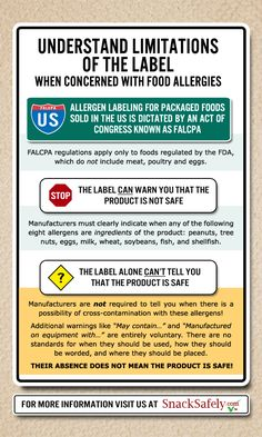 Understand the limitations of ingredient labeling if you are concerned with food allergies!