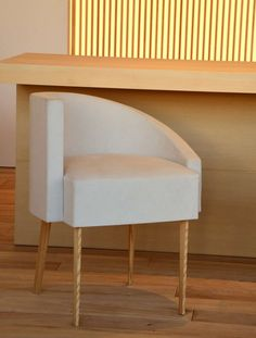Retro-modern chair designed by photographer Hiroshi Sugimoto. Seating furniture home decor design