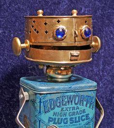 EDGEWORTH Found Object Robot by HeavyMetalMilkman on Etsy